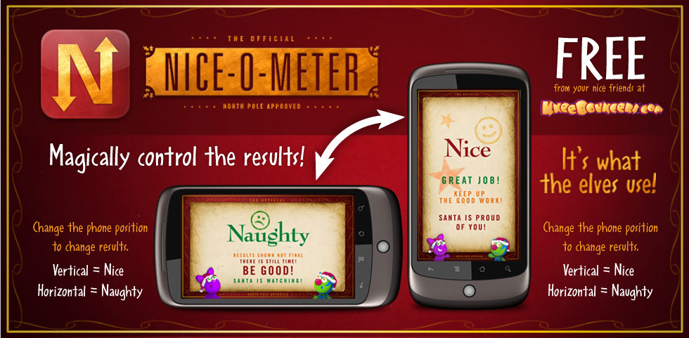 NiceoMeterHeader Naughty or Nice List? Check Your Childs List Status with The Nice O Meter!
