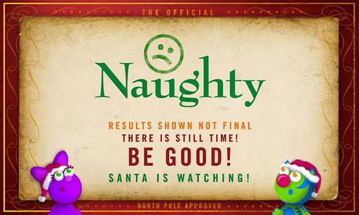 naughty Naughty or Nice List? Check Your Childs List Status with The Nice O Meter!