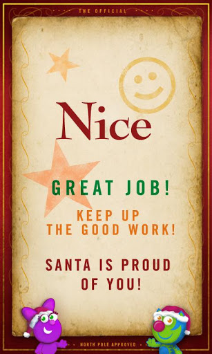 nice Naughty or Nice List? Check Your Childs List Status with The Nice O Meter!