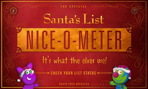 niceometer Naughty or Nice List? Check Your Childs List Status with The Nice O Meter!