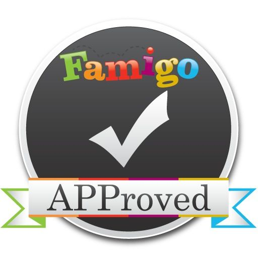 Famigo APProved badge for KneeBouncers Toddler Pack V1 Apps