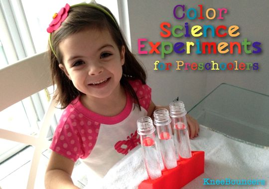 Color Science Experiments for Preschoolers - KneeBouncers