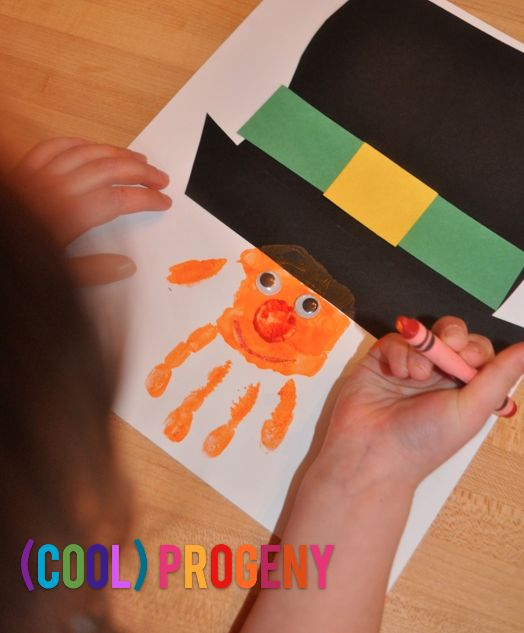 LeprechaunHandprintCP hands on st. patricks day fun!