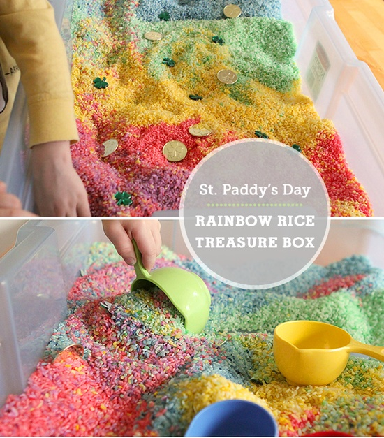 Rainbow Rice Treasure Hunt - Modern Parents Messy Kids