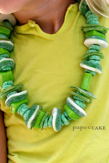 candy necklace8 hands on st. patricks day fun!
