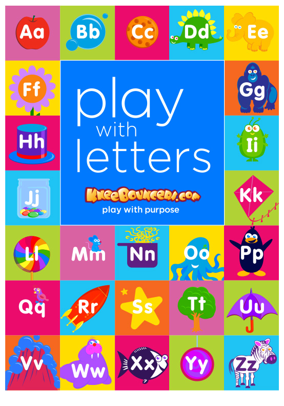 KneeBouncers Play with Letters!