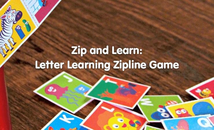 zipline game learn letters