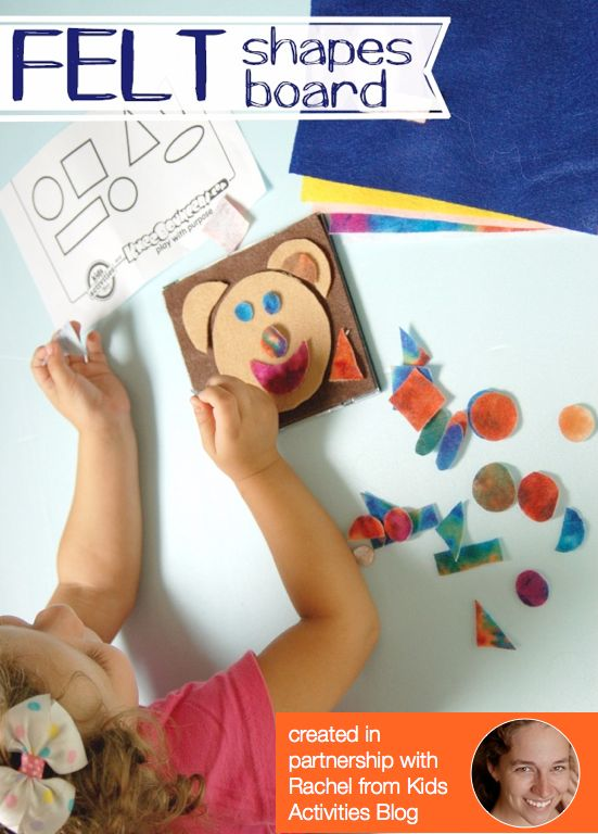FeltShapesBoard Learn Shapes with Freddy Funny Face and Felt