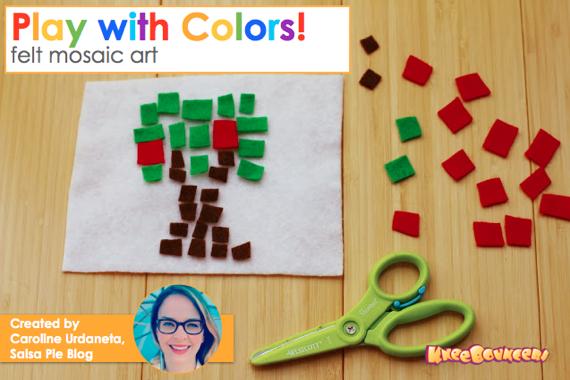 Felt Mosaic Craft KneeBouncers 1 Play with Colors: Felt Mosaic Art