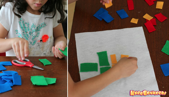 Play with Colors! Felt Mosaic Art - KneeBouncers