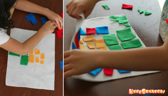 Felt Mosaic Craft KneeBouncers 3 Play with Colors: Felt Mosaic Art