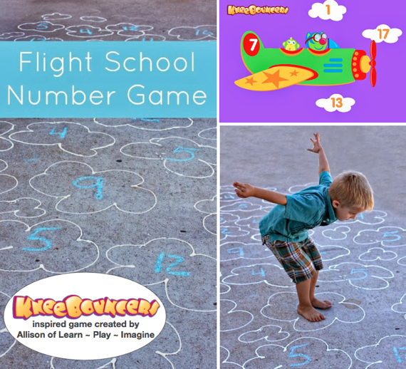 Take KneeBouncers' Up In The Air number game app to new heights with this gross motor skill number game, developed by Allison of Learn ~ Play ~ Imagine. #KneeBouncersPlay