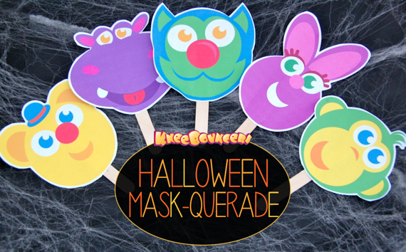 Make Your Own KneeBouncers Halloween Masks!