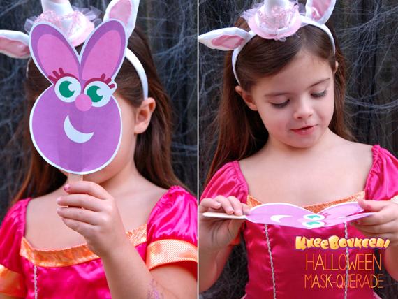 Make Your Own KneeBouncers Halloween Masks!