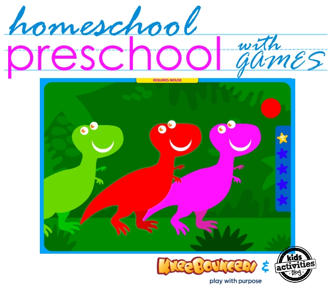 Learn Colors with KneeBouncers Games - Strategies and Ideas for Preschool Learning, #preschool #learning #colors #kneebouncersplay