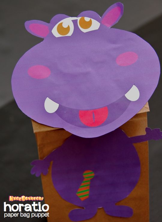 Horatio Paper Bag Puppet - KneeBouncers