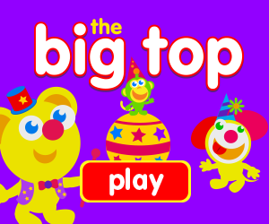 image for game for baby, game for toddlers, circus, clowns, juggling