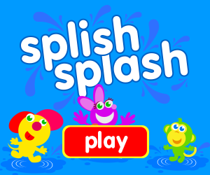 Splish Splash, game for baby, game for toddlers, splashing in a puddle