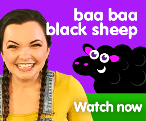 baa baa black sheep title for Kiki's Music Time music video for toddlers on KneeBouncers