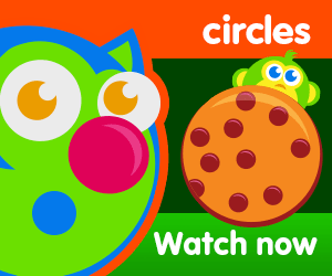 title of circles are everywhere episode of the kneebouncers show on babyfirsttv