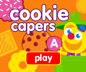 learn shapes, learn letters, learn numbers, game for toddlers, game for preschooler, cookie jar