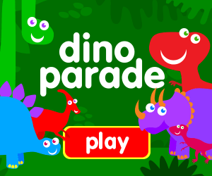 learn numbers, learn counting, game for baby, game for toddlers, dinosaurs, trex, raptor, brachiasuarus, brontosaurus, triceratops