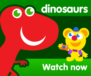 title for freddy finds dinosaurs episode of the kneebouncers show on babyfirsttv