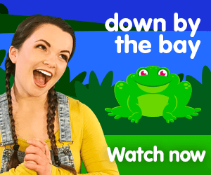 down by the bay title for Kiki's Music Time music video for toddlers on KneeBouncers