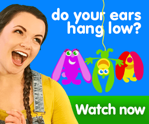 do your ears hang low title for Kiki's Music Time music video for toddlers on KneeBouncers