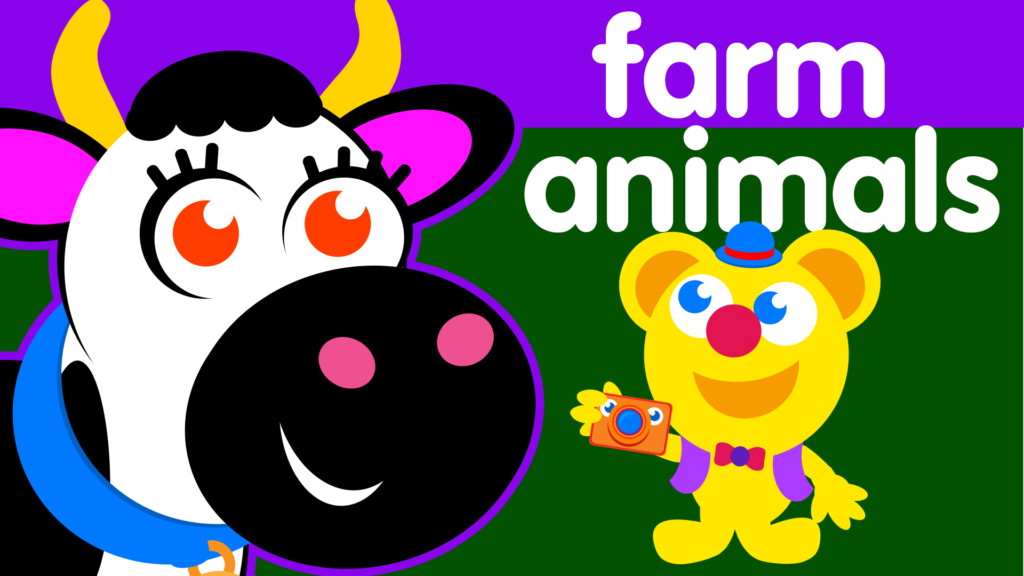 title for freddy finds farm animals episode of the kneebouncers show on babyfirsttv