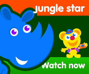 title of jungle star episode of the kneebouncers show on babyfirsttv
