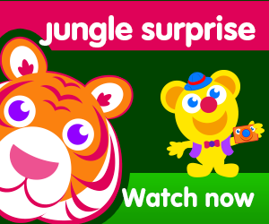 title of jungle surprise episode of the kneebouncers show on babyfirsttv