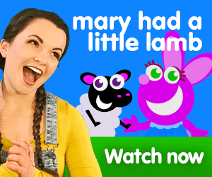 mary had a little lamb title for Kiki's Music Time music video for toddlers on KneeBouncers