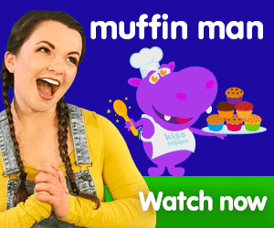 the muffin man title for Kiki's Music Time music video for toddlers on KneeBouncers