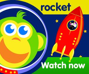 title for sammy's rocket dream episode of the kneebouncers show on babyfirsttv
