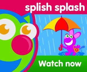 title of splish splash episode of the kneebouncers show on babyfirsttv