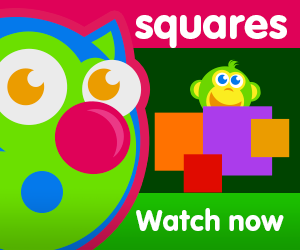 title of squares are everywhere episode of the kneebouncers show on babyfirsttv