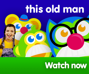 this old man title for Kiki's Music Time music video for toddlers on KneeBouncers, learn counting