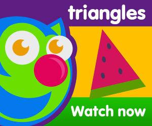 title for triangles are everywhere episode of the kneebouncers show on babyfirsttv