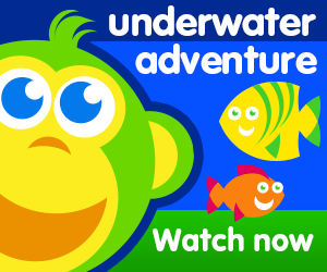 title for underwater adventure episode of the kneebouncers show on babyfirsttv