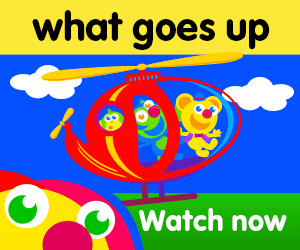 title for what goes up episode of the kneebouncers show on babyfirsttv