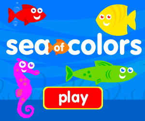 learn colors, identify colors, game for baby, game for toddlers, fish game