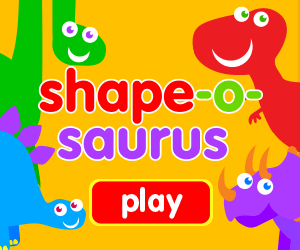 shapeosaurus title, learn shapes, learn letters, learn numbers, game for baby, game for toddlers, dinosaurs