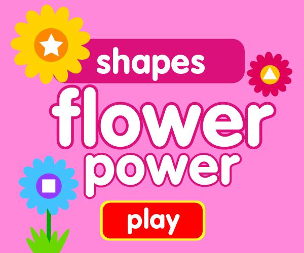 Preschool game, learn shapes, flower game