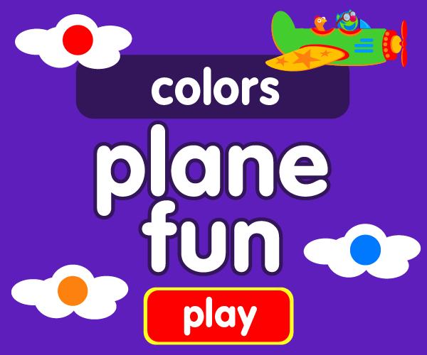Preschool game, learn colors, airplane game