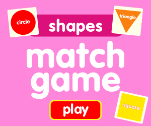 matching game learn shapes