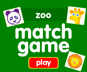 matching game learn zoo animals