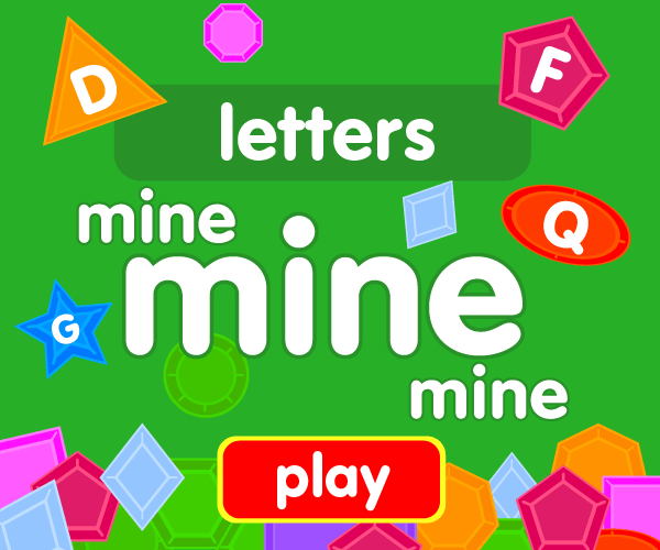 Preschool game, learn letters, jewel catching game