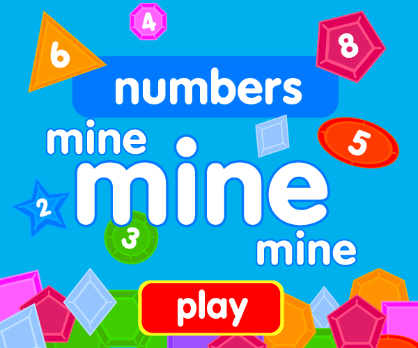 Preschool game, learn numbers, jewel catching game